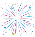 Explosion of firework on white vector image