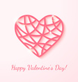 Applique card with pink heart vector image