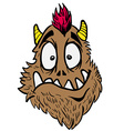 funny looking monster vector image