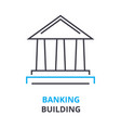 banking building concept outline icon linear vector image