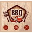 bbq logo 2 vector image
