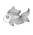 doodle coloring monochrome fish vector image