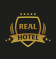real hotel logo and emblem logo vector image