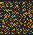 seamless sunflower pattern vector image