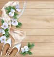 Wedding floral background vector image