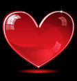 Red shiny heart vector image vector image