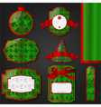 Christmas labels - green vector image