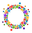 Circle frame with stars for your text vector image