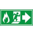 Fire Exit 02 vector image