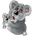 Koala Bear And Cub vector image vector image