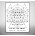Abstract brochure template with sacred geometry vector image