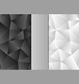 black and white color polygon abstract background vector image