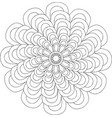 black and white online art geometric round floral vector image
