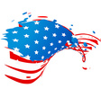 creative american flag vector image