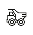 dump truck icon on white background vector image
