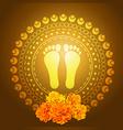 god foot print vector image
