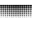 Halftone background Black-white vector image