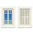 home window - awake and asleep vector image