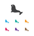 of zoology symbol on seal icon vector image