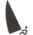 sailing icon vector image