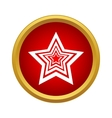 Star icon simple style vector image