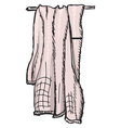 towel vector image