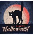 vintage grungy Halloween design vector image vector image