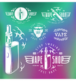 Vapor bar and vape shop labels vector image