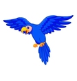 Blue parrot cartoon flying vector image vector image