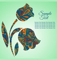 doodle flower tulips zentangl drawing holiday vector image