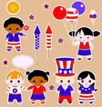 Fourth of July Children vector image vector image