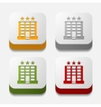 square button hotel vector image