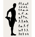 Stretching Silhouettes vector image