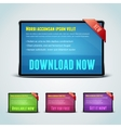Set of 4 download banners for your website vector image vector image