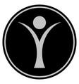 abstract man black coin vector image
