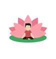 calm guy is doing yoga vector image
