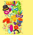 carnival party seamless pattern with celebration vector image