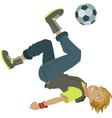 cartoon soccer boy vector image
