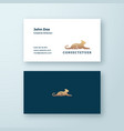 lying lioness abstract minimal sign symbol vector image