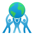 Teamwork Earth Logo vector image