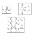 Three puzzle vector image