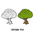 tree cartoon trees isolated on white background vector image
