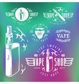 Vapor bar and vape shop labels vector image