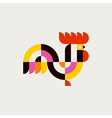 Rooster flat logo template or icon of cock vector image
