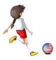 A female soccer player from the United States vector image vector image