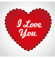 Red heart with dots in the background with red bor vector image