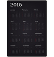calendar 2015 on black texture vector image
