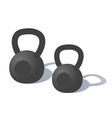 Cartoon Kettlebells vector image
