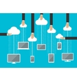 Peoples using gadgets in cloud service vector image vector image