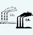 Emission from coal power plant vector image